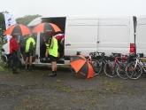 Terry's van in full swing on Day 1 of Three Men on a Bike 2012