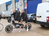 Terry & Simon with their PMT pimped up tandem