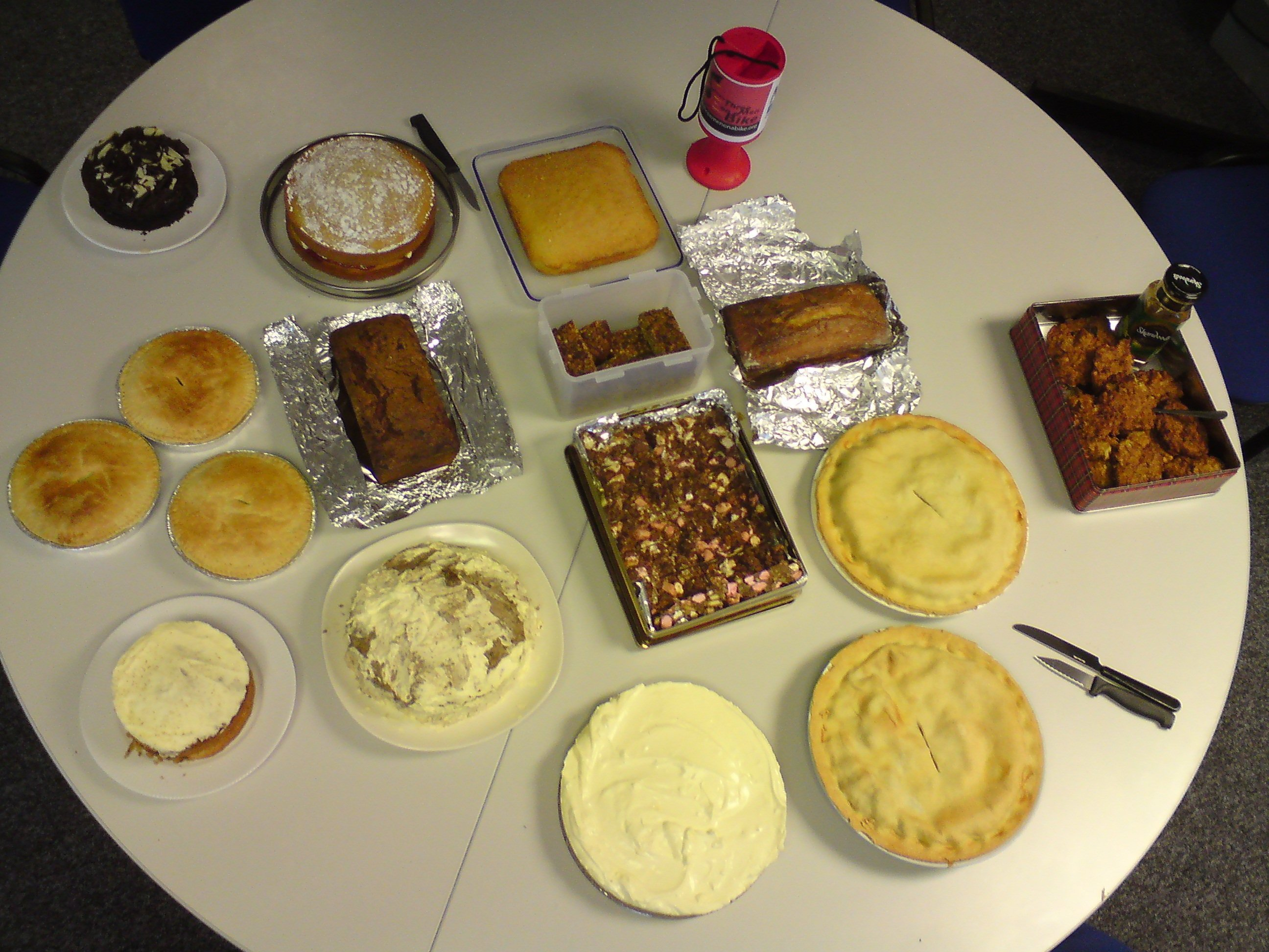 More fundraising food at head office