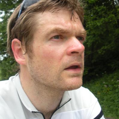 Neil Griffiths taking part in Three Men on a Bike